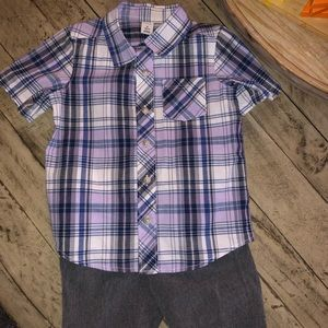 OLD NAVY BOYS FLANNEL TOP WITH SHORTS